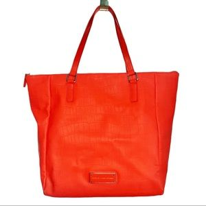 MARC By Marc Jacobs Take Me Tote Croc Solid Coral